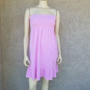 7309535e7e Juicy Couture Pink Terry Cloth Strapless Sun Dress